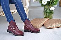 Женские стильные ботинки из натурального натуральной итальянской кожи