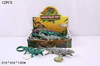 Животные резиновые 7206 (432шт/2) Крокодилы,3 вида,в кор. 28*20*6см