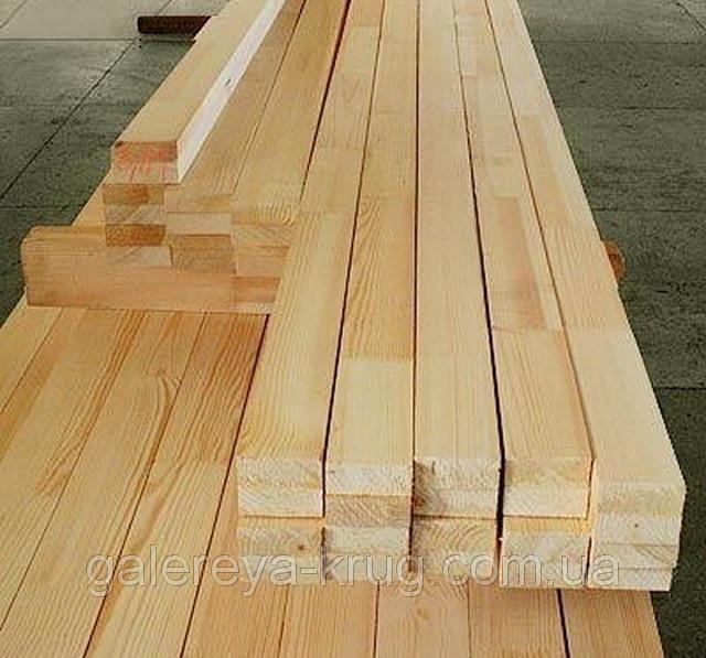 Лага деревянная (брус сухой строганный) 50х40х2000 мм