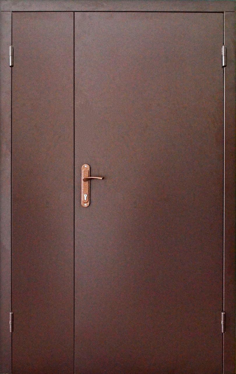 Полуторные входные двери Техно в тамбур с установкой в Киеве
