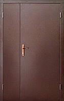 Тамбурные двустворчатые металлические входные двери Техно 2 в коридор 120 см.