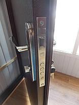 Тамбурные двустворчатые металлические входные двери Техно 2 в коридор 120 см., фото 3