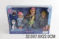 "Кукла ""Frozen ""BX032-1 (1359928) (48шт/3) Анна,Эльза,Кристоф, олень Свен, снеговик Олаф"