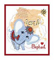 ВТ-179 Набор для вышивания крестом Crystal Art Детский мир. Азия