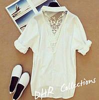 Рубашка ажурная белая