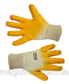 Перчатки с латексным покрытием б/п
