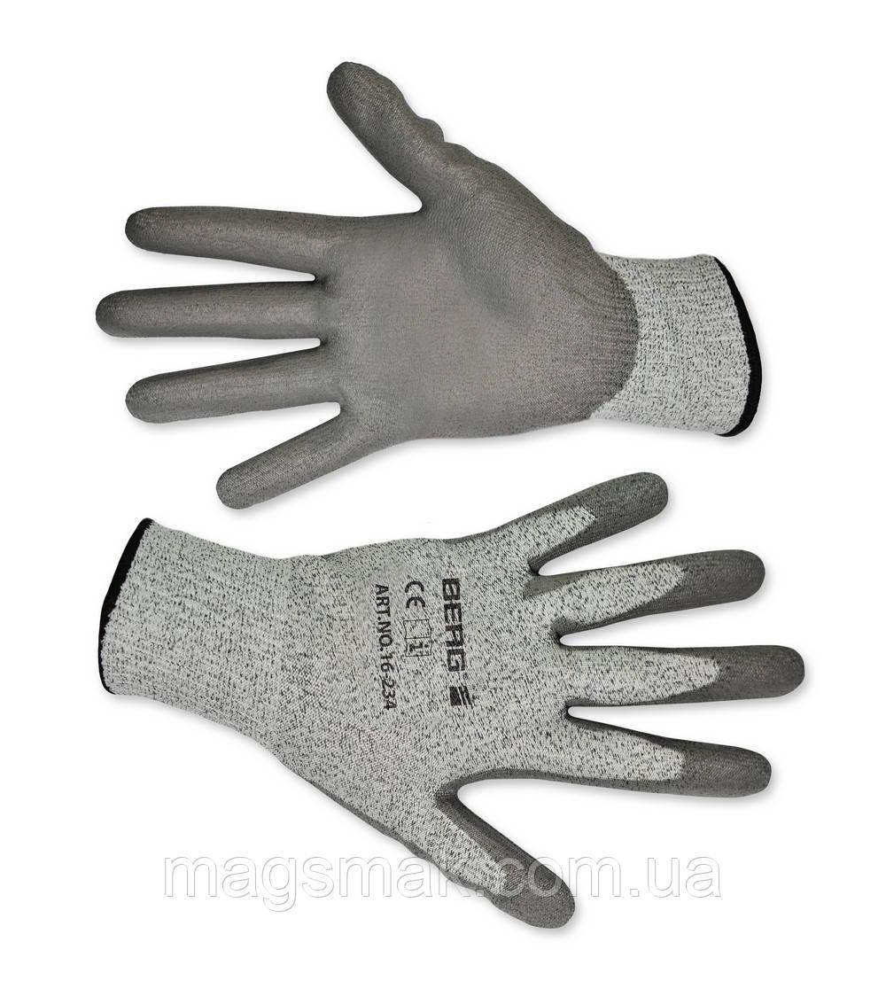 Перчатки с защитой от порезов, матовый полимер L-XL