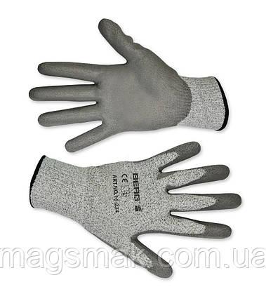 Перчатки с защитой от порезов, матовый полимер L-XL, фото 2