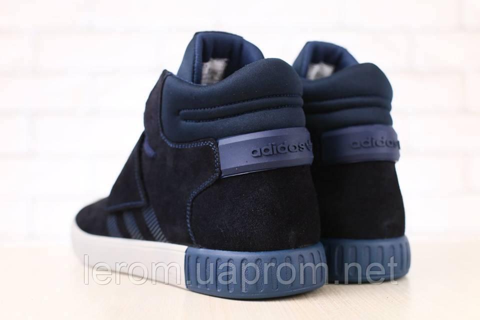 ... Высокие кроссовки мужские замшевые синие Adidas, фото 4 c9cb67c7878
