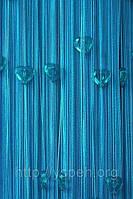 Веревочные шторы с сердцами СС21
