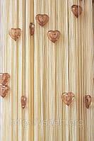 Веревочные шторы с сердцами СС23