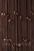 Веревочные шторы с сердцами СС24