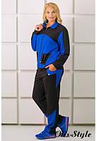 Батальный женский костюм БОНИТА электрик Olis-Style 54-64 размеры