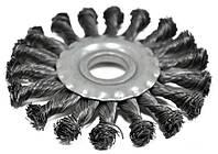 Щетка-крацовка радиальная, плоская, закрученная 100х22,2 мм