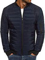 Мужская осенняя куртка синяя 018