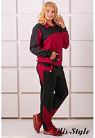 Батальный женский бордовый костюм БОНИТА Olis-Style 54-64 размеры
