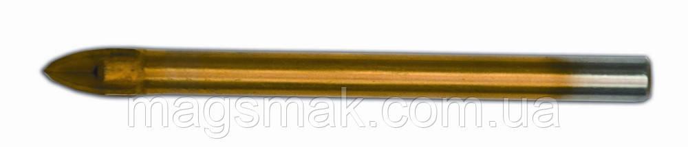 Сверло по стеклу и плитке, 4 резца, Resource 8 мм