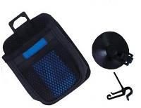 Подставка карман- сетка в авто под телефон, очки King KH 805 черн/синий