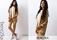 Костюм женский модный пиджак с лацканами и брюки костюмка разные цвета Ds657