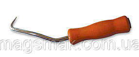 Крючок для вязки арматуры 210мм, деревянная ручка, подшипник