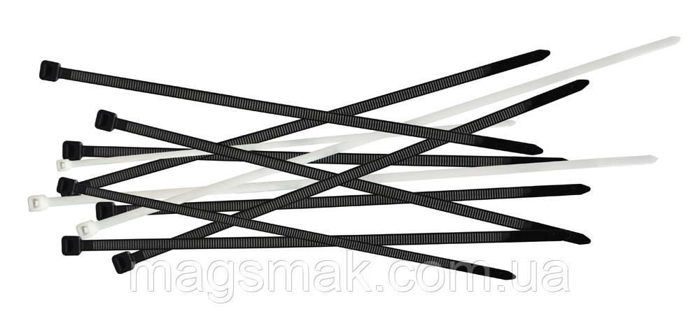 Ремешки затяжные, Украина 4.6х300 мм, черные, 100 шт.
