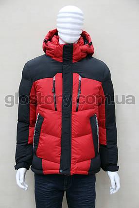 Мужская куртка Glo-story красная, фото 2