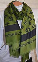 Шарф палантин в стиле Louis Vuitton (Луи Витон) зеленый