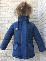 Куртка парка зимняя на мальчика 86-110 см, возраст 1, 2, 3, 4,5 лет.