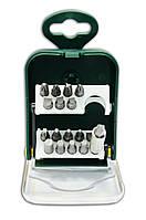 Набор насадок отверточных, S2 25 мм, с магнитным держателем, 17 шт