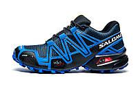 Кроссовки мужские Salomon Speedcross 3, темно-синие с синим, р. 41 42 43 44