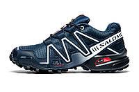 Кроссовки мужские Salomon Speedcross 3, темно-синие, р. 42 43 44, фото 1