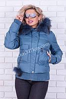 Куртка короткая женская зимняя Damader №1739