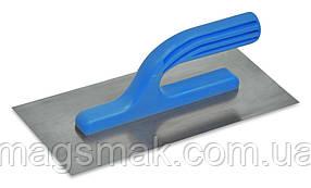 Гладилка нержавеющая с платмассовой ручкой 125х270 мм, зуб 4x4 мм