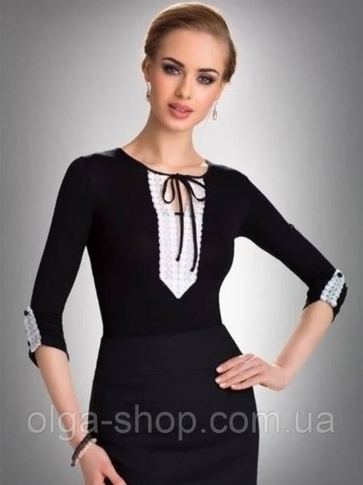 1e5dce53936 ... кофточка женская черная с длинным рукавом Eldar TAYLOR офисная деловая  одежда