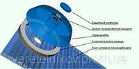 Термошайба ПВХ крепежная с EPDM уплотнителем для поликарбоната. , фото 1
