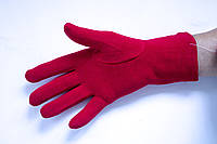 Трикотажные красные перчатки  Маленькие