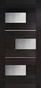 Двери межкомнатные КУБ ПВХ стекло САТИН (с молдингом)
