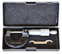 Микрометр 0–25 мм, 0,01–0,25 мм