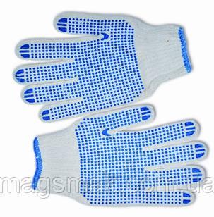 Перчатки вязанные с вкраплением серые, L, фото 2