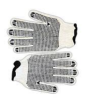 Перчатки вязанные с вкраплением серые, L, фото 3