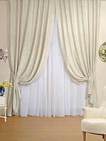 Ткань для штор блэкаут СОФТ кремовый (двухсторонняя)