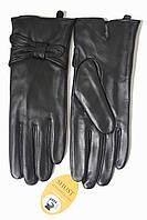 Женские кожаные черные перчатки Сенсорные Большие