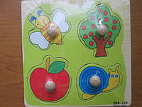 "Рамка-вкладыш для малышей"" Летний сад"""