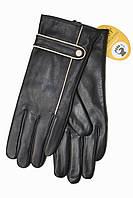 Женские кожаные черные перчатки Сенсорные Маленькие