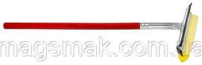 Губка с резинкой на деревянной ручке для стекла