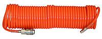 Спиральный шланг с быстродействующим соедин. 6х8, 10 м