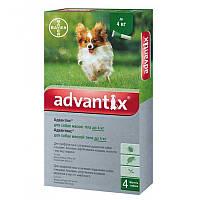 Капли на холку Адвантикс для собак до 4 кг