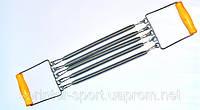 Эспандер 5 пружин с деревянными ручками. 4001