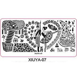 Стемпинг диск метал. средний прямоугольный XIUYA 07, фото 2