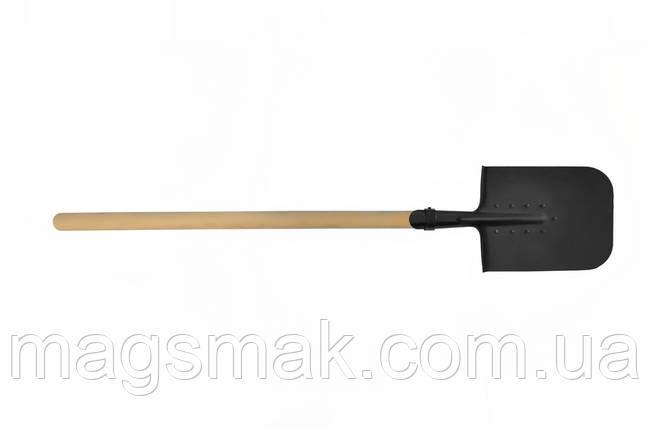 Лопата саперная, больша, деревянная ручка, Украина 110 см, фото 2